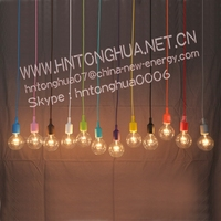 DIY Personality E27 13 Colorful Silicone Pendant light holder with 120cm cord ceiling base For Decoration lighting