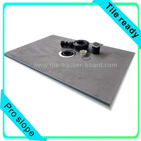 cement coated fiberglass mesh reinforced shower base