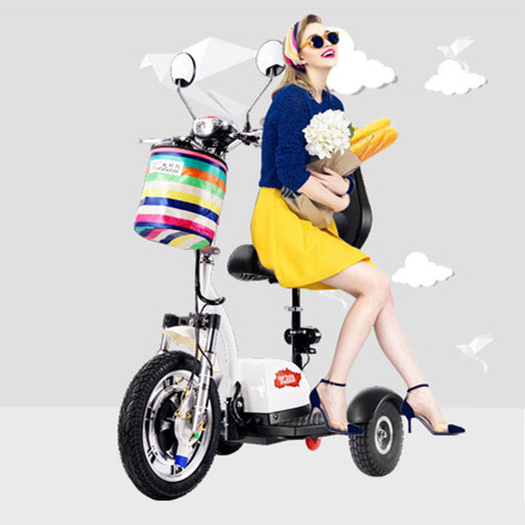 2017 hot sale 48v 350w mini folding 3 wheel electric mobility scooter /handiapped scooter/tricycle