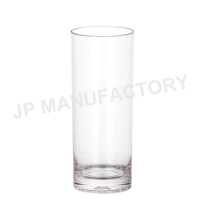unbreakable plastic collins cup/Polycarbonate drinking glass/Straight glass