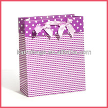 2014 new design fancy gift paper hand bag wholesale