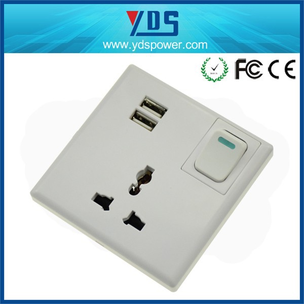 2015 new design usb socket wall europe 220v,usb wall power socket made in China