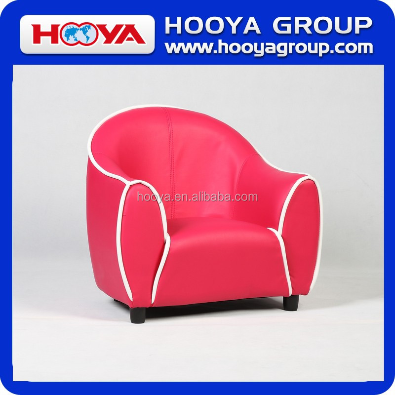 Kids sofa- red, W58cm* D46cm* H54cm,PU+sponge+crude wood