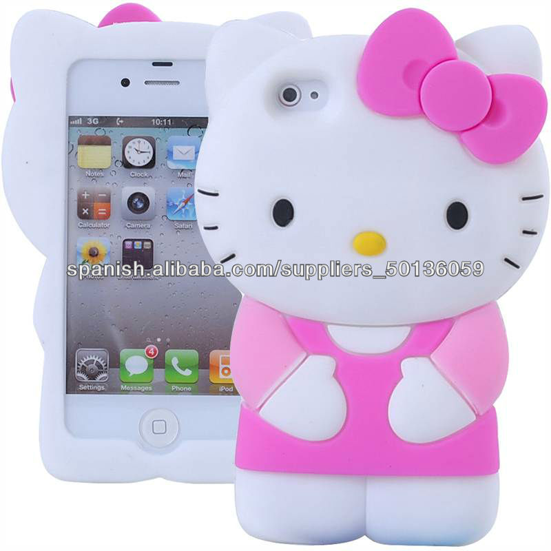 2013 divertida funda hello kitty carcasa 3d de silicona para iphone 5 bolsas y fundas para - Fundas iphone 5 divertidas ...