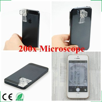 200X Microscope , Magnification Lens 200X for mobile Phones Macro Lens