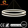 50w aluminum suspended 2 rings pendant hanging lights, acrylic suspended led pendant light fixtures