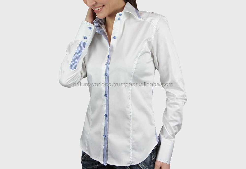 Slim fit and fashionable formal shirt for ladies