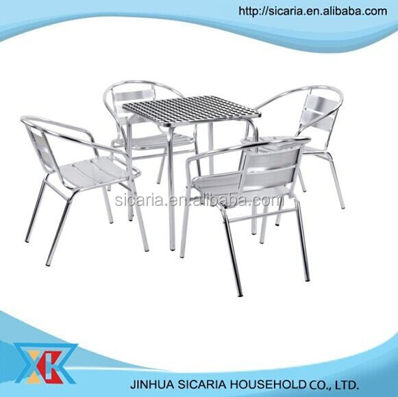 garden furniture lightweight stainless steel table and chair set