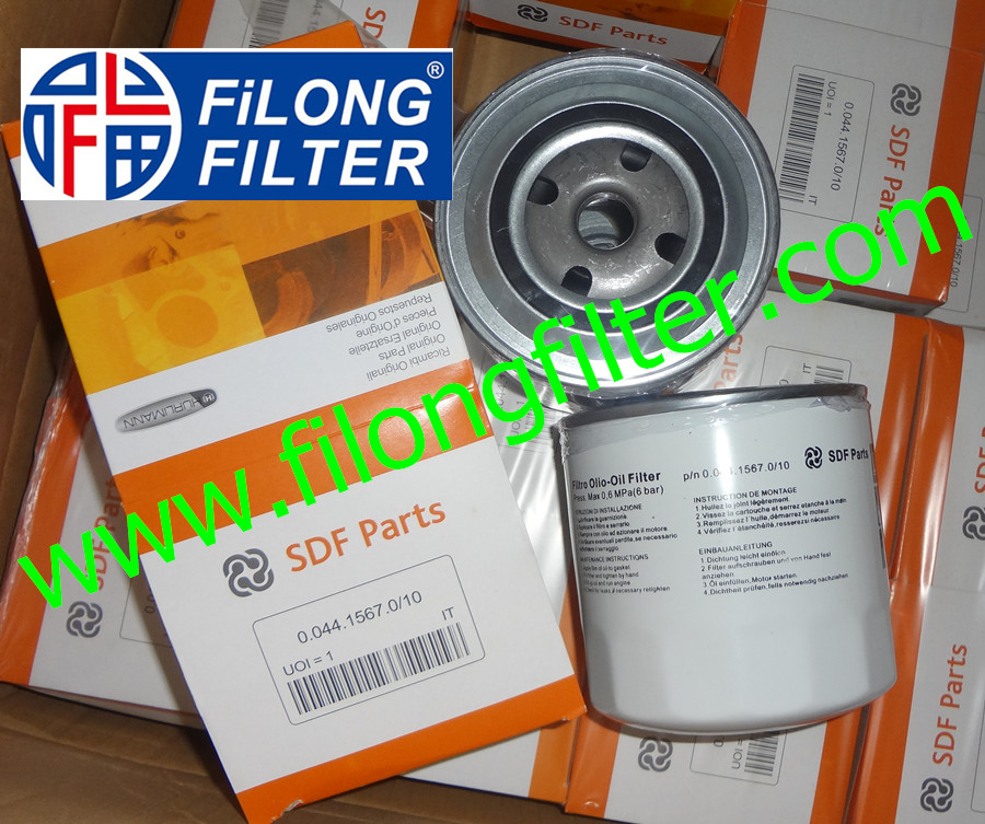 Supply FILONG For SDF PARTS Oil filter 0.044.1567.0/10 004415670/10 00441567010 W1130
