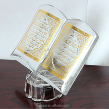 Crystal Islamic Quran Book with LED Light for Wedding Favors and Islamic Gifts