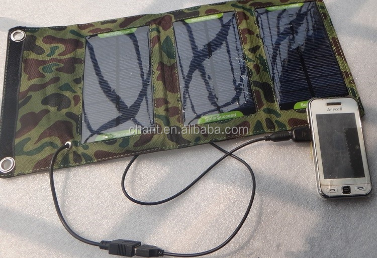 5 w waterproof solar charger mobile power portable folding solar panel power bank