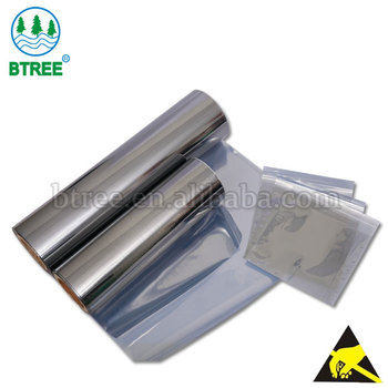 Btree Antistatic Static Shield Film Roll For Making ESD Bag to Protect Electronical Parts