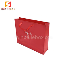 Chinese printing factory OEM service shopping paper flat handle luxury packaging paper gift bag