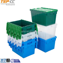 Plastic container with flip lid