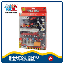 Kids mini fire vehicles toys play set 1 64 scale diecast trucks for young boy