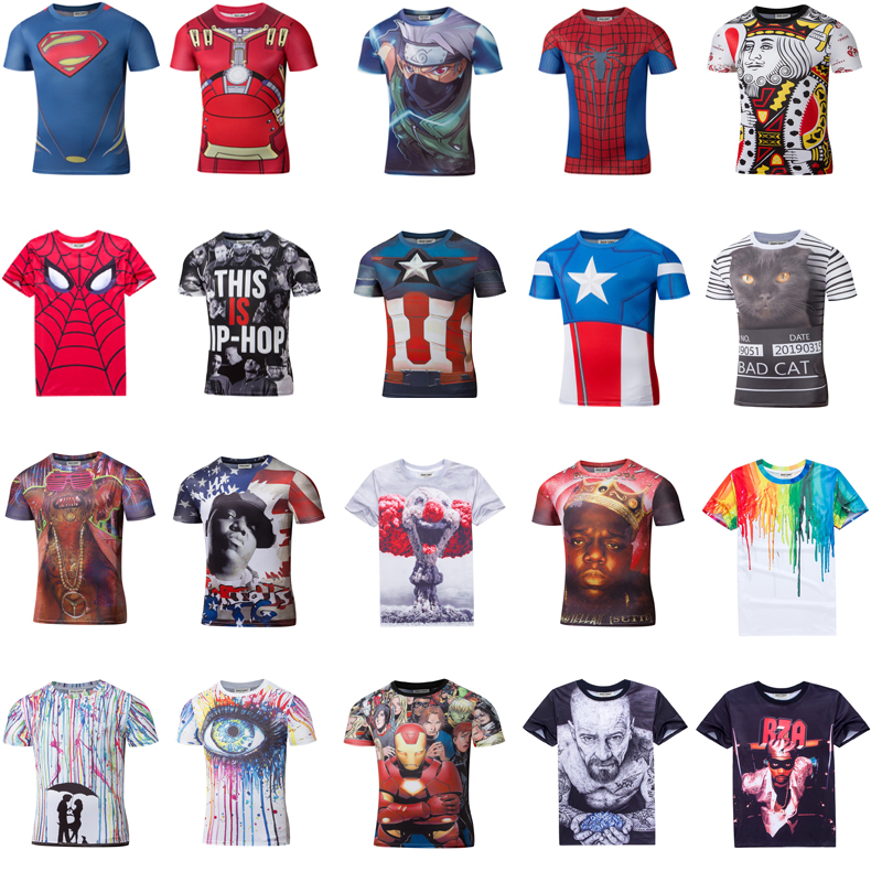 Only For Opensky 2016 New High Quality Men's short sleeve 3D printing T shirts Print <strong>design</strong>