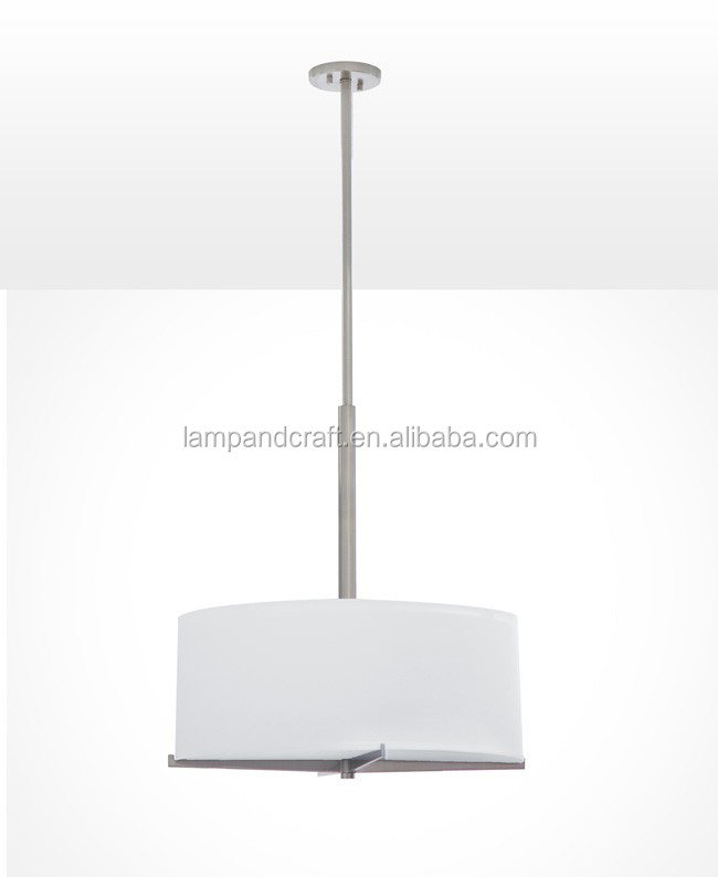 modern dining room fabric pendant lamp with white fabric linen lamp shade