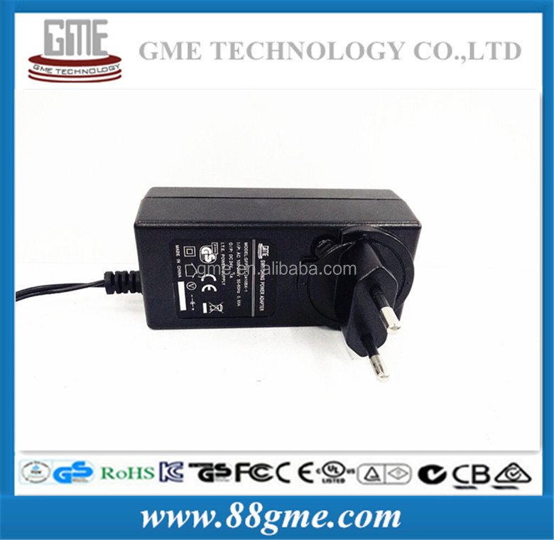 2016 HongKong exhibition show ac dc adapter: new style 12V cctv cameras ac to dc power adapter with EU plug