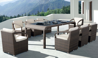 European style PE rattan patio furniture