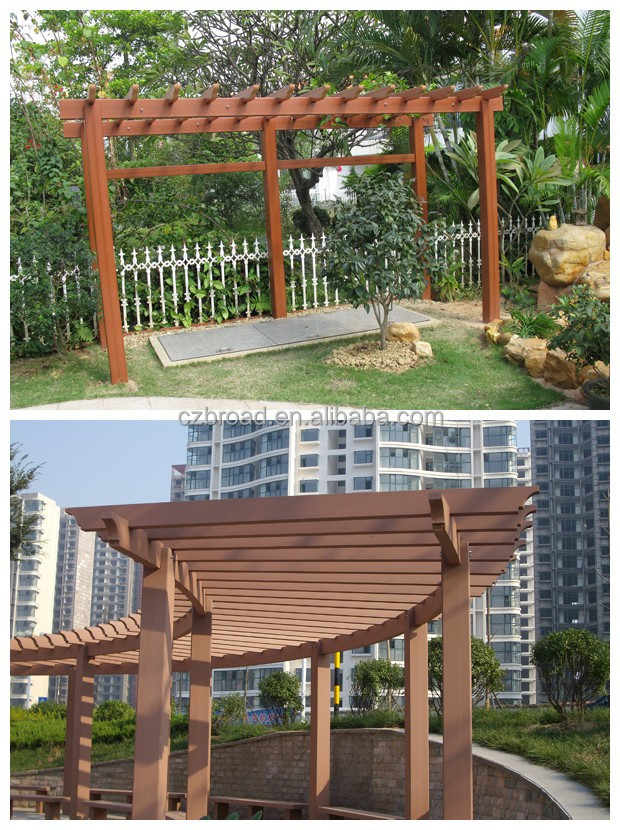 anti uv louvered decorative chinese style pergola with brackets