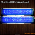 "P5.5-8x56 Blue SMD light without cabinet PCB board 44x308mm(1.7""X12"") LED message display panels"