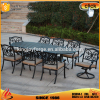 8 Seaters Cushioned Aluminum Outdoor Furniture