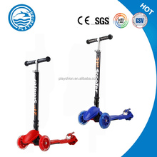 Folding Foot Pedal Scooter Kick, 3-Wheel Trike Scooter For Kids