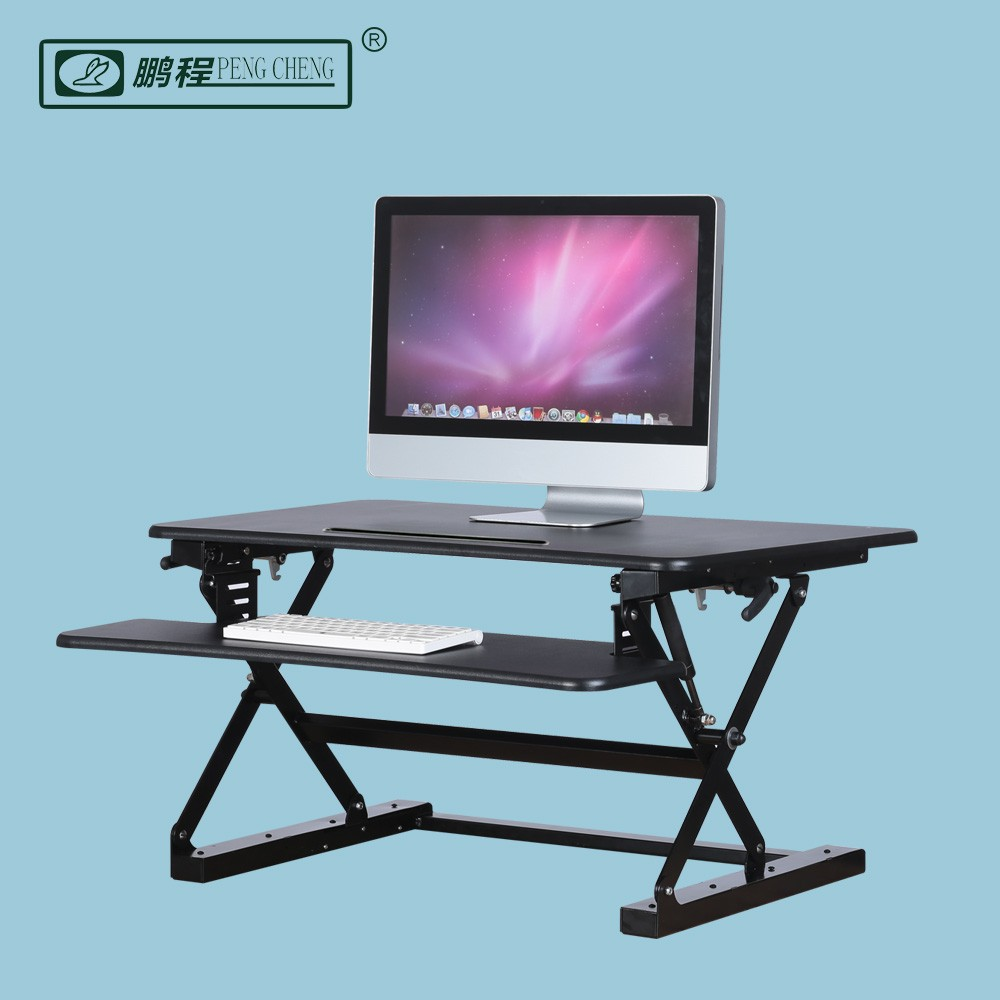 PCS500 Wood Steel Gas spring Scissor Sit Stand Lift Tables