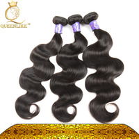 Directly From Young Girl Donor Malaysian body wave No spilt human hair Natural Black