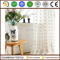 100% polyester rhombus modern design embroidered sheer voile curtain