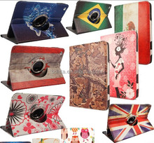 Tablet 360 Degree Rotating PU Leather Flip Folio for ipad air case