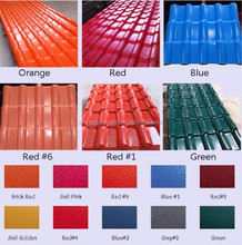 Diversified Colors hot sale sheet roofing pvc roof tile, metal roofing sheet building