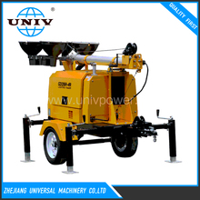 Outdoor portable light tower generator mobile light tower