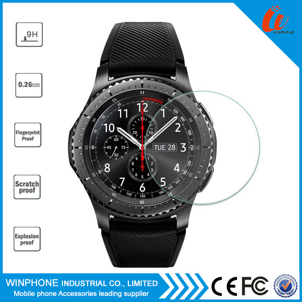 9H tempered glass screen protector for Samsung Gear S3 film Guard Protector , high clear anti-scratch for watch