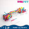 Beautiful colors weaving products colored durable pet cotton rope toys