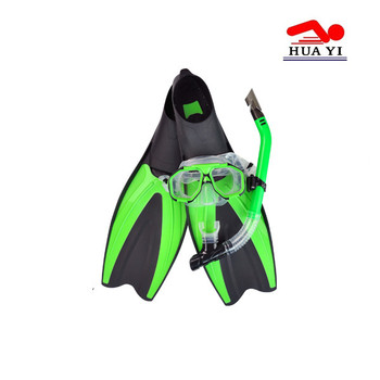 Silicone adults professional custom diving mask snrokel with fins