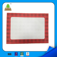 custom printing paper envelope with very strong adhesive peel&seal