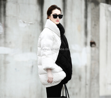 Big brand Woman High quality Black and white winter dow jackets