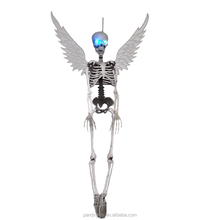 35'' BONE COLOR SKELETON WITH LED LIGHT WITH WINGS