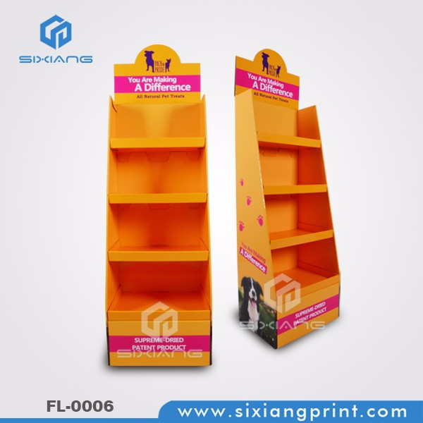 POP Cardboard Corrugated Paper Display Stand For Dog Food