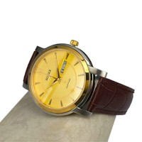 Wholesale OEM watch genuine leather watch movt quartz watch Stainless Steel back