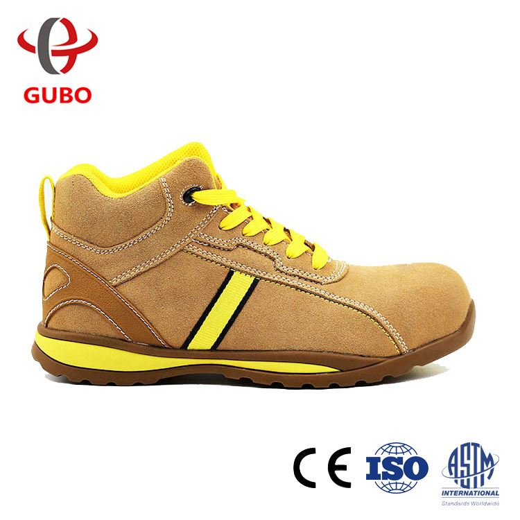 Wear Resistant Static Free Anti Slip Oil Acid Ce Rubber Sole Genuine Leather Strong Work Shoe