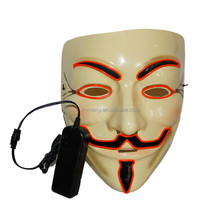 2017 Newest Product Multi Color Lighting Vendetta Demon Mask For Festiva Adult Party Dress Up