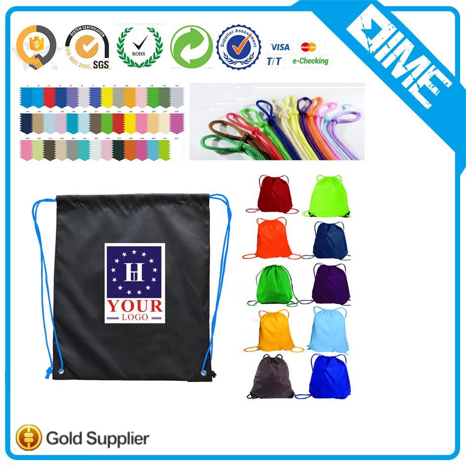 Premium Personalized Polyester Drawstring Backpack