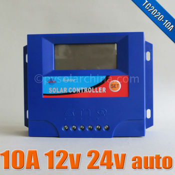 10A solar charge controller LCD display