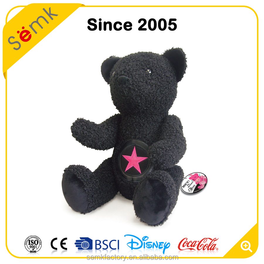 Animal black bear plush baby toy without clothing cute plush dog pug soft toy for gifts