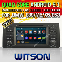 WITSON 5.1 Android Car DVD GPS for BMW E39 with Quad Core Rockchip 3188 1080P 16g ROM WiFi DVR Picture in Picture MirrorLink