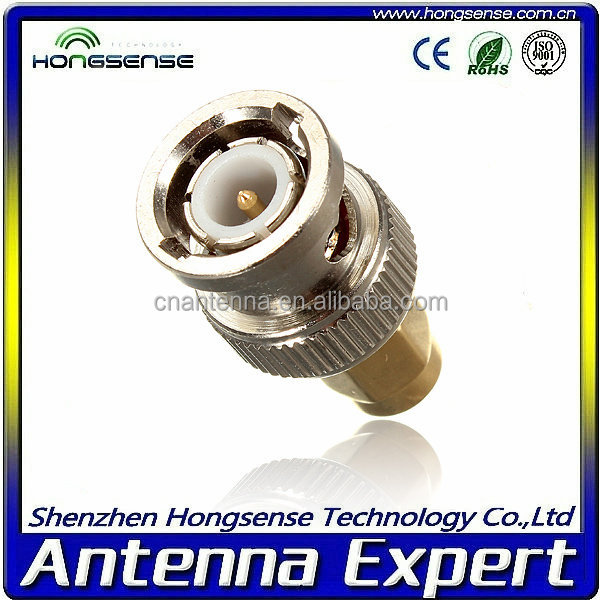 High Quality low price rf connector BNC male to SMA male Brass material connector