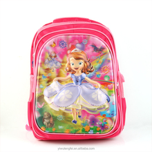 Trolley backpack for kids cartoon princess school bag