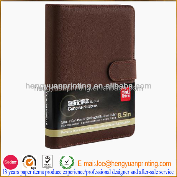 High quality PU leather hardcover 2 year planner 2016/2017